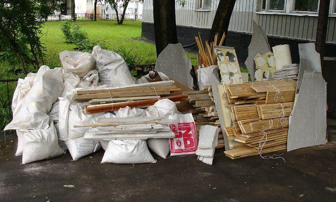 вывоз мусора из квартиры после ремонта