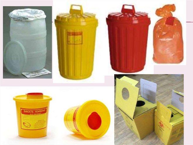 сбор медицинских отходов, контейнеры
