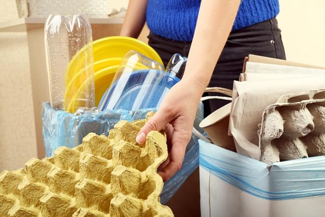 Контейнеры для сортировки отходов в доме