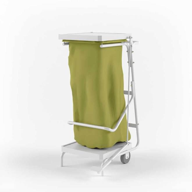 сбор медицинских отходов, тележка для вывоза