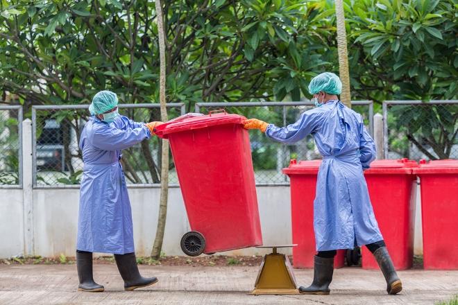 схема обращения с мед. отходами, обязанности персонала