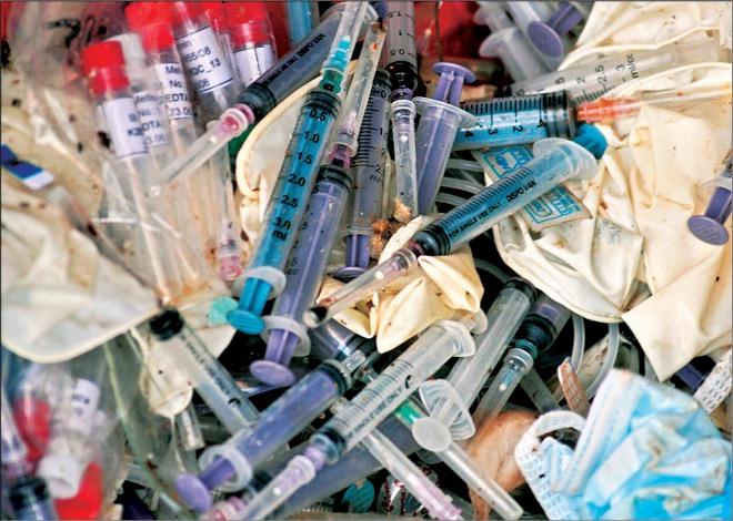 мед. отходы класса Б, схема обращения с медицинскими отходами