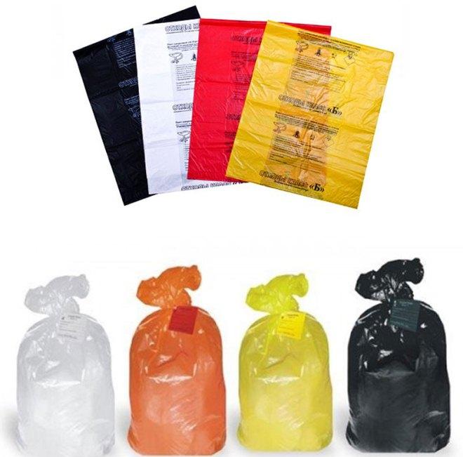 мешки и пакеті для медицинского мусора