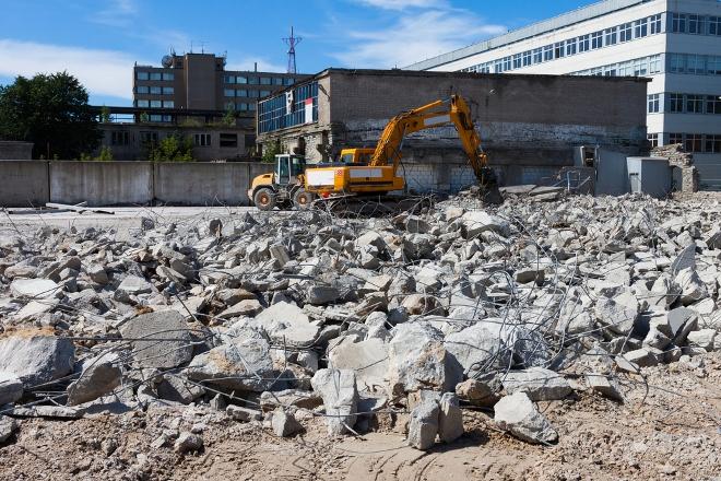 контейнер для вывоза строительного мусора, демонтаж зданий