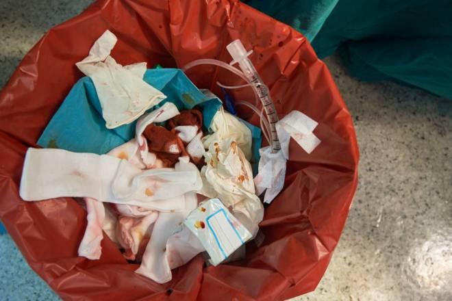 отходы класса в, мешки для медицинских отходов