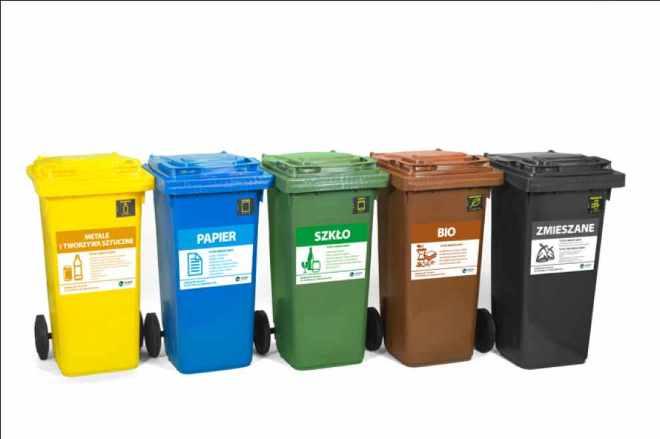 еврокрнтейнері для раздельного сбора мусора